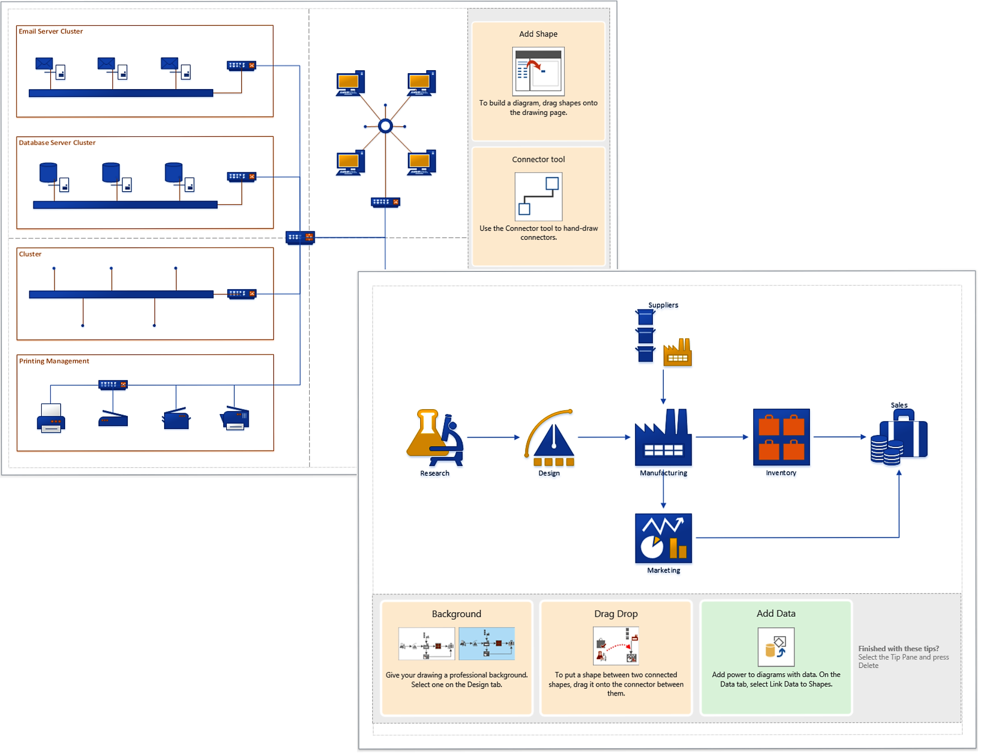 The new visio is herework visually microsoft 365 blog get started quickly gumiabroncs Image collections