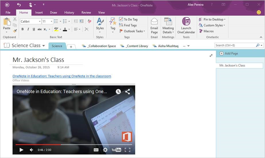 OneNote in November—Embed video, record audio, insert files