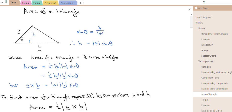 Lighten the mathematics load with OneNote Class Notebooks