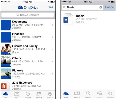 OneDrive gets smarter on your phone: Access your work documents, new