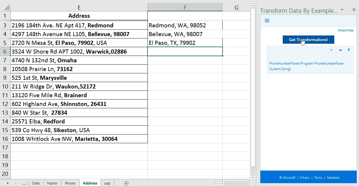 transform data by example a microsoft garage project for excel