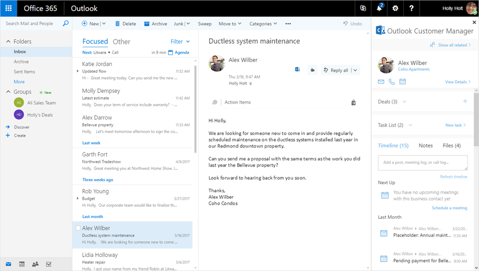 outlook customer manager now rolling out worldwide with enhanced