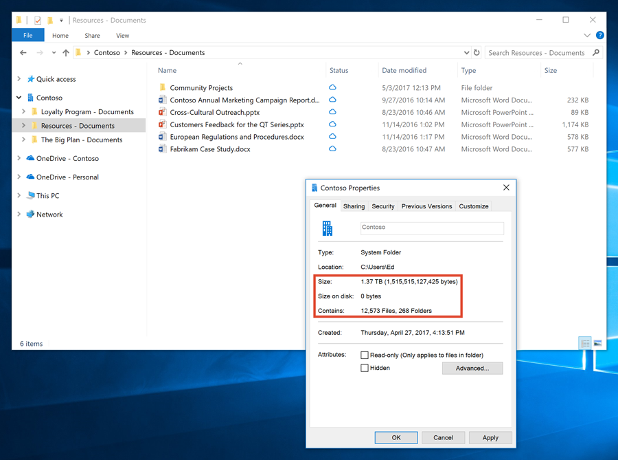 Introducing OneDrive Files On-Demand and other features making it