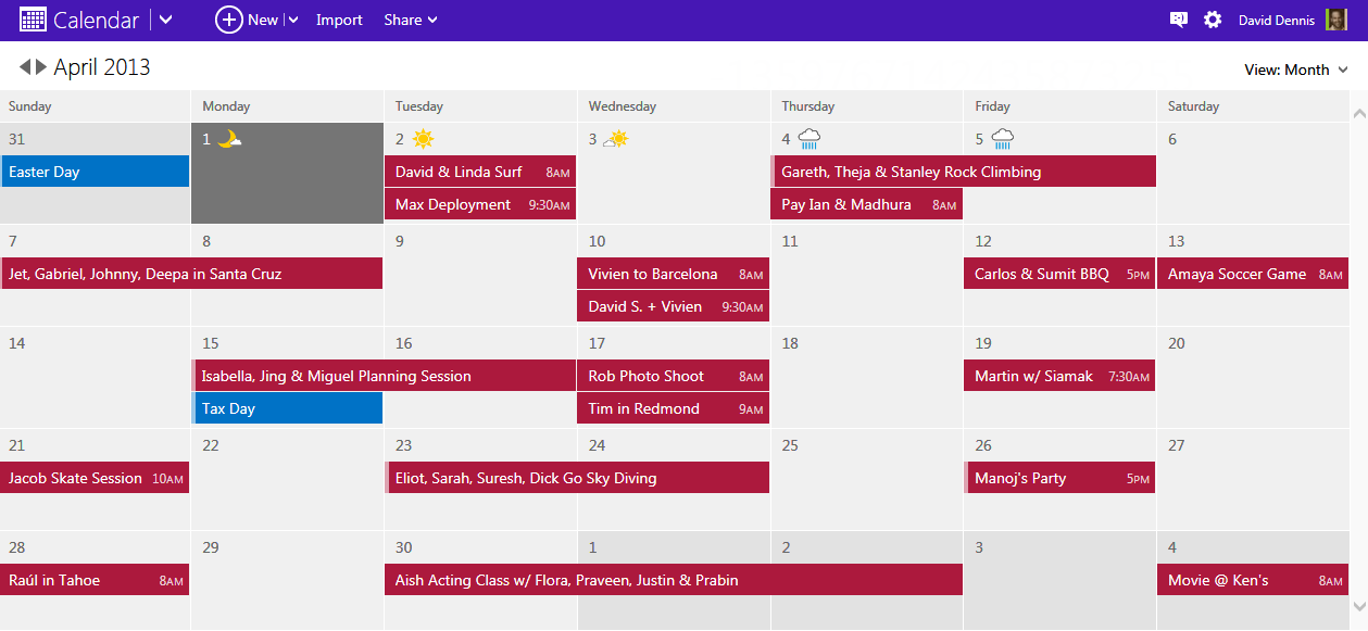 Take control of your schedule with a modern calendar experience for