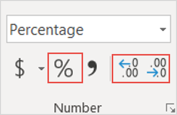 Image showing how to create percentages