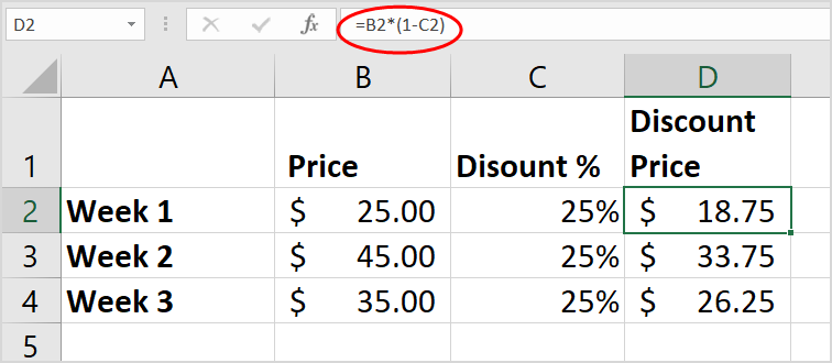 Minus Percentage Calculator