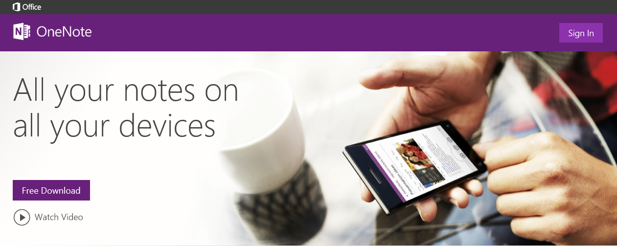 Go to onenote.com and sign in