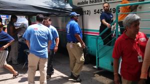 CHN's mobile medical van in action.