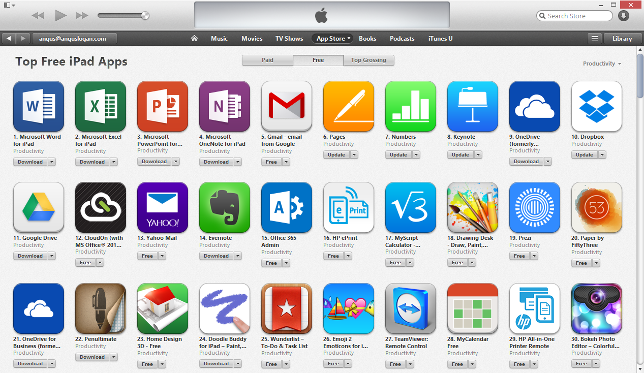 Download the OneDrive, OneNote, and Office apps today!