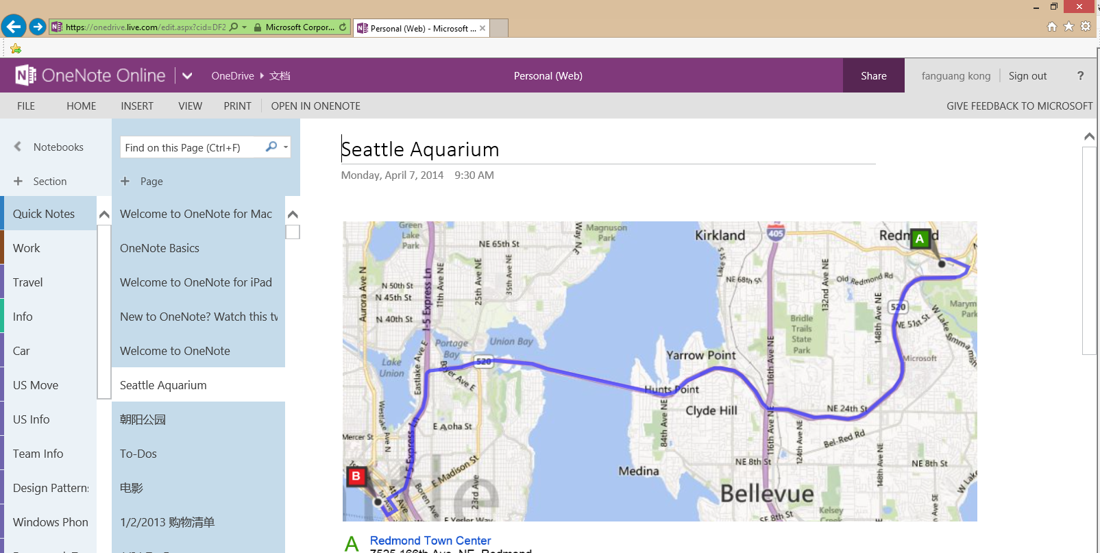 OneNote Online Print option on the Ribbon