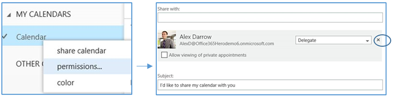 Outlook - remove delegate access