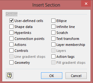 Insert section dialog