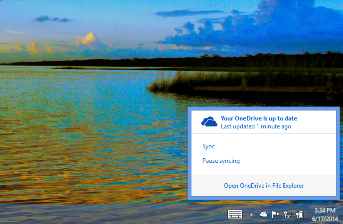 OneDrive System Tray