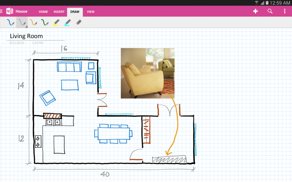 Drawing with OneNote