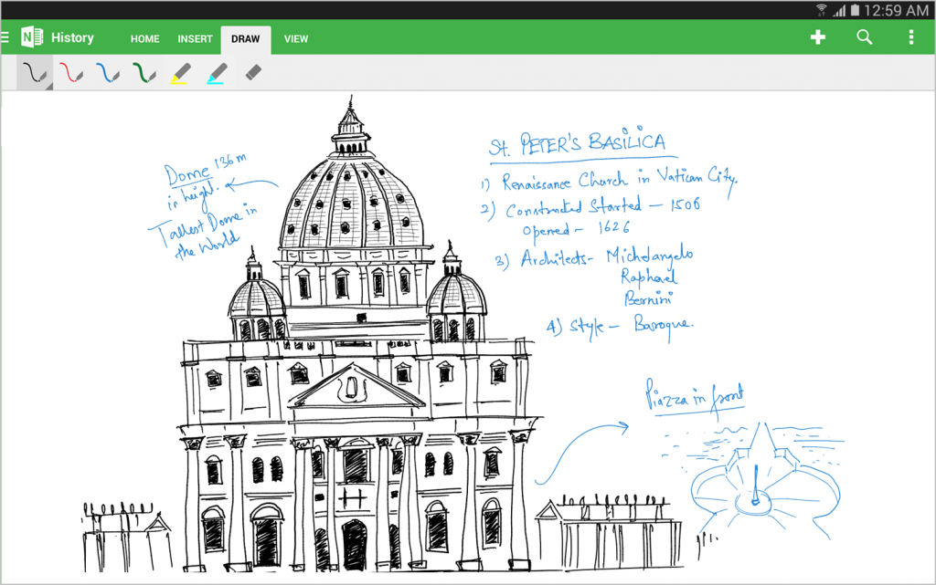 Inking with OneNote