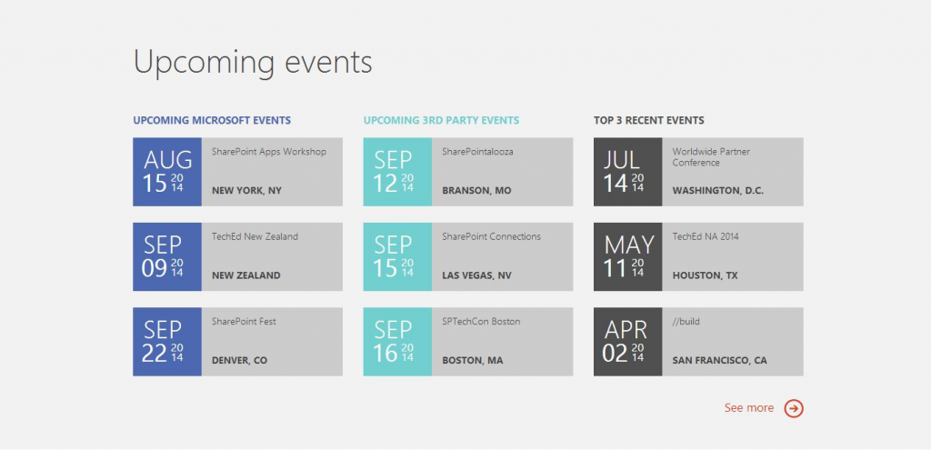 Office Dev Center Events