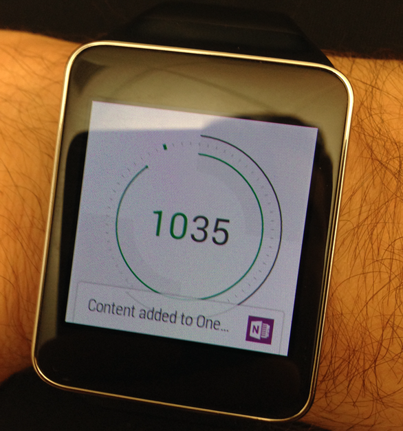 Android Wear watch take a note
