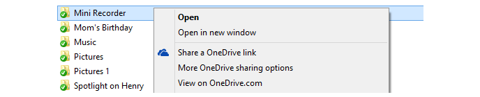 OneDrive share link