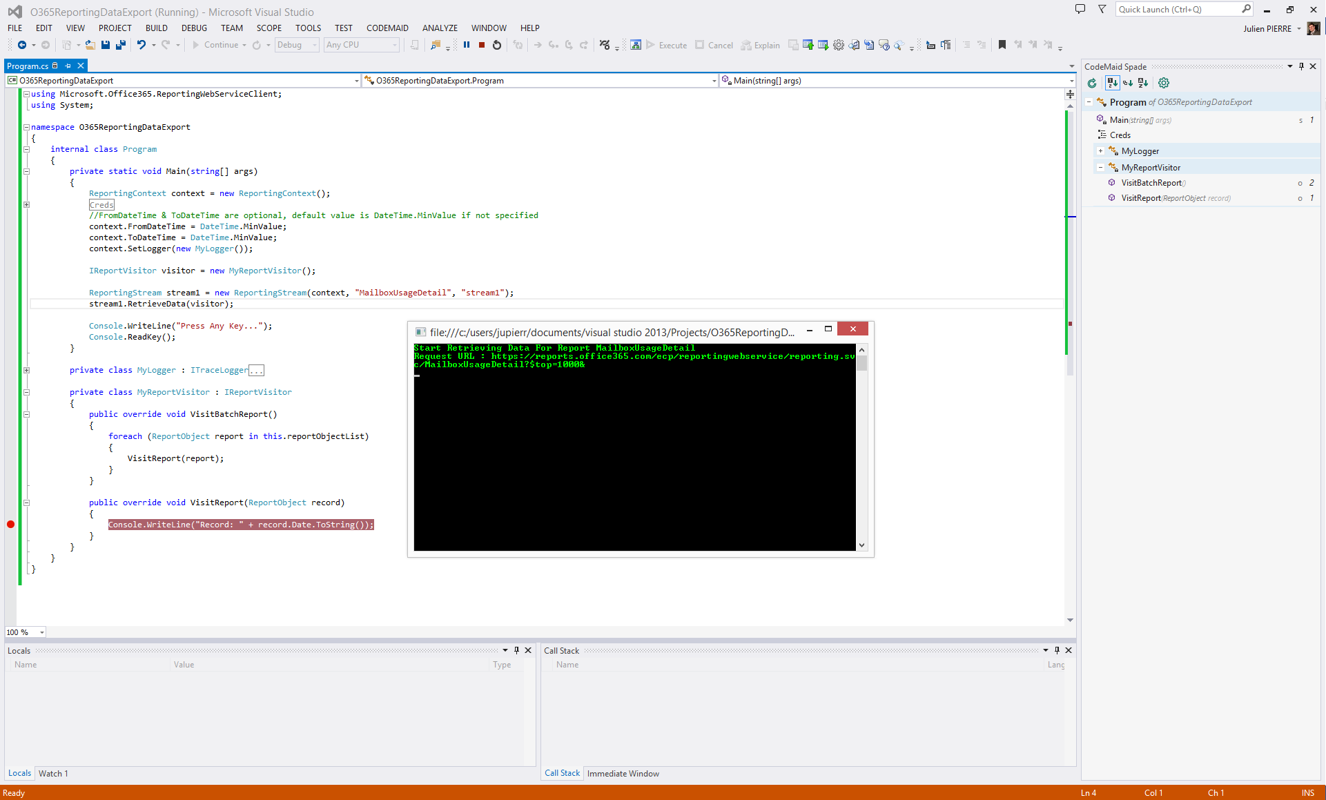 Client library for Office 365 2