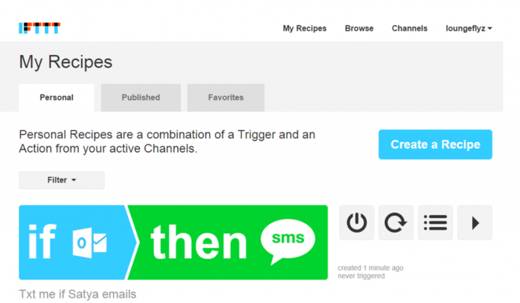 IFTTT Recipev2