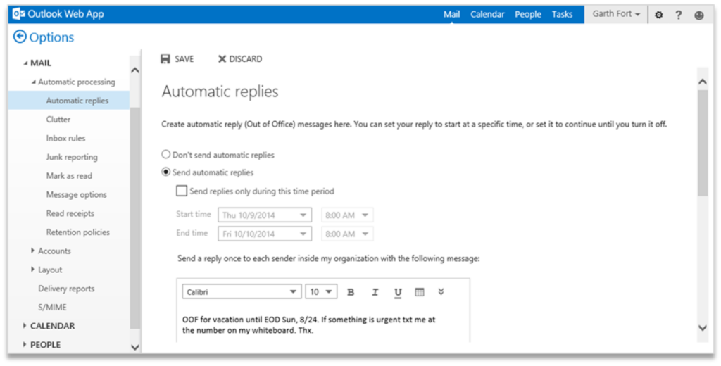 Improving Outlook Web App options and settings 4