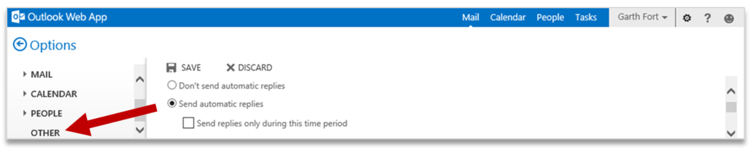 Improving Outlook Web App options and settings 5
