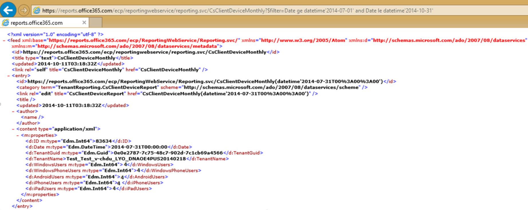 Lync Online client devices report 4