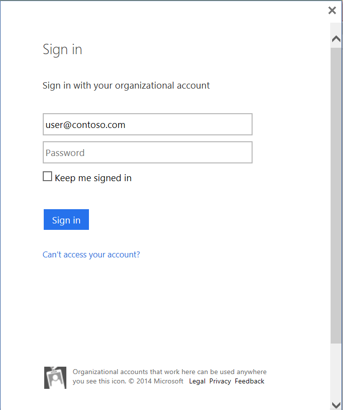 Office 2013 updated authentication 1
