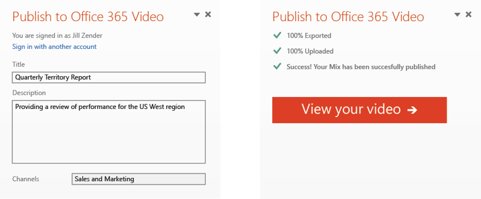 Office Mix to Office 365 Video 2