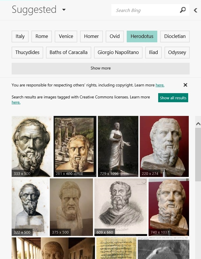 Bing - CROP Suggested search images Herodotus