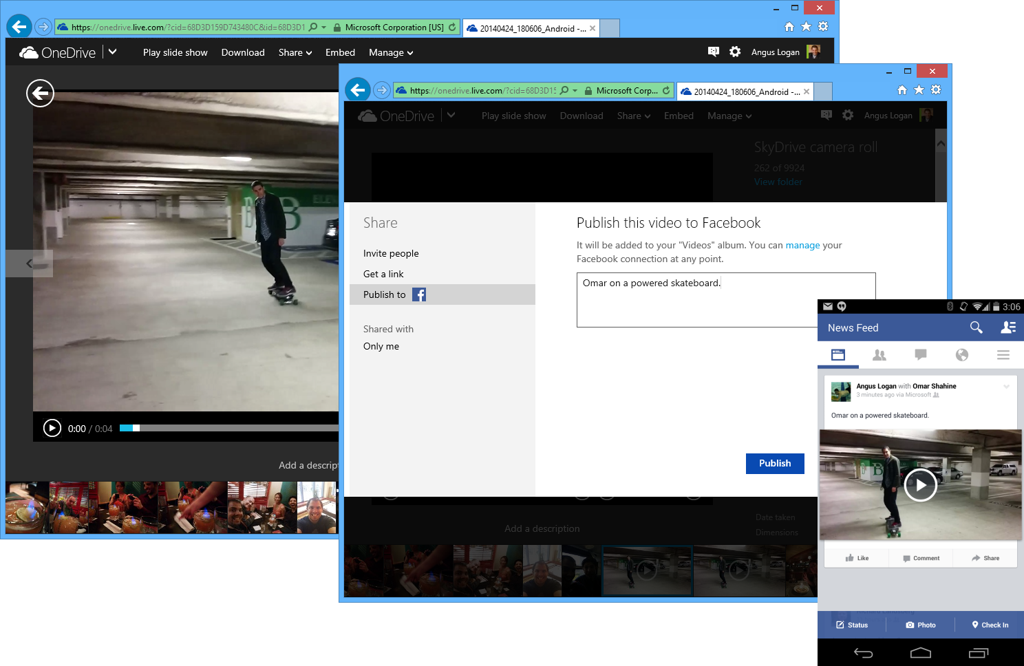 Video Sharing to Facebook