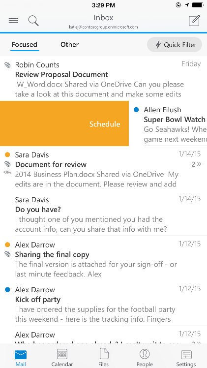 A deeper look at Outlook for iOS & Android 2
