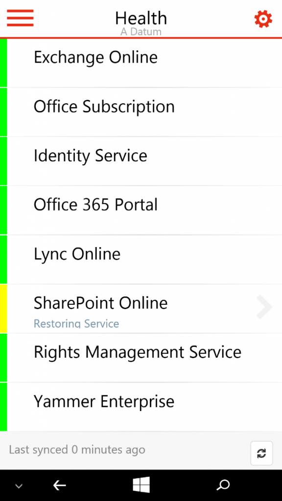 Office 365 Partner admin mobile app 2
