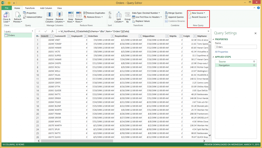 6 updates for Power Query for Excel 2