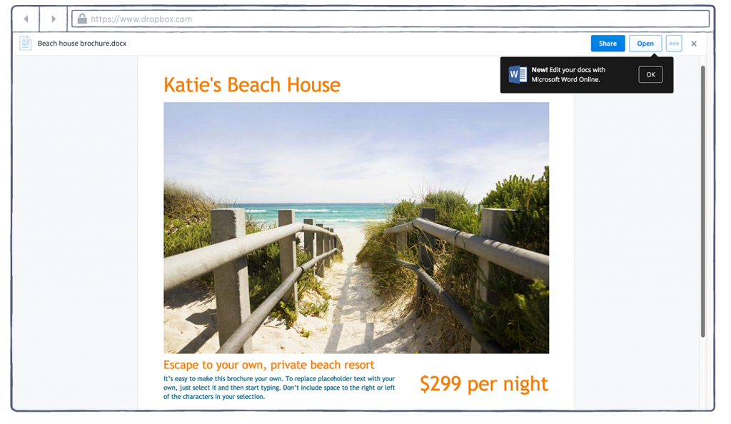 Dropbox-Office Online Product Screenshot