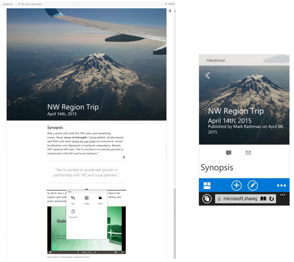 New Office Delve People Experiences in Office 365 2