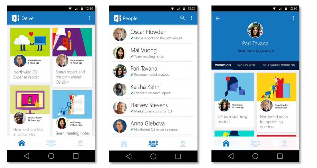 New Office Delve People Experiences in Office 365 3