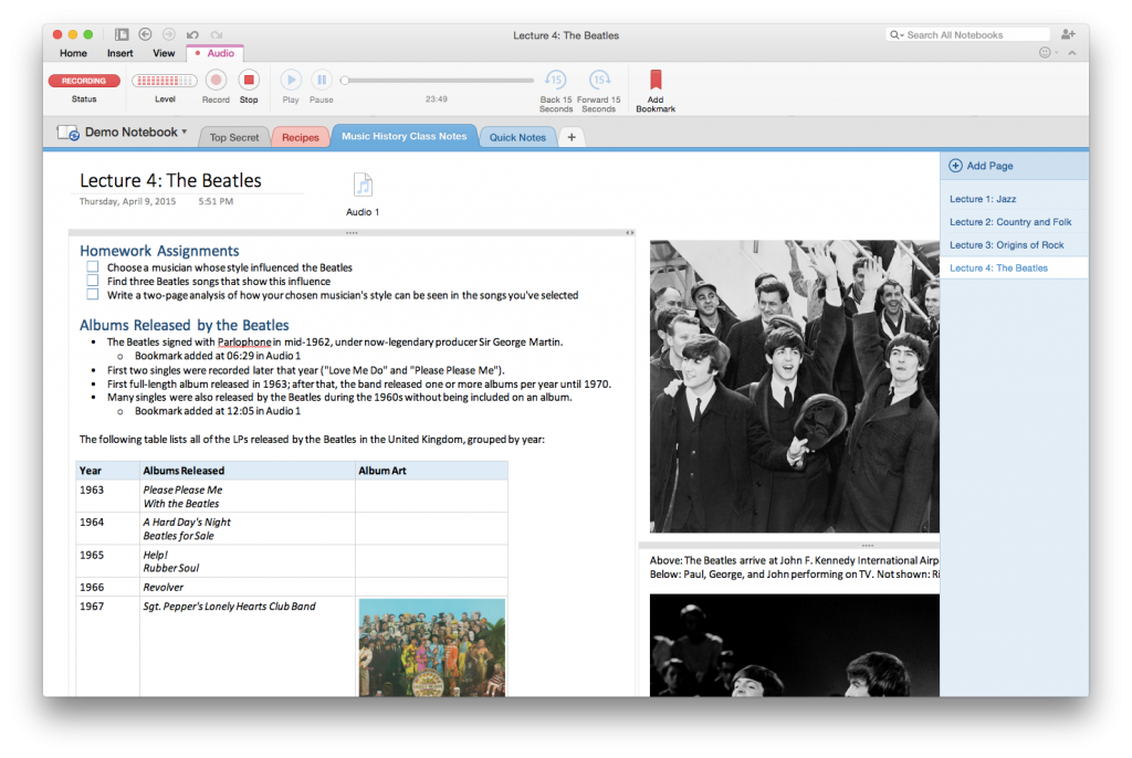Audio recording comes to OneNote for Mac 1