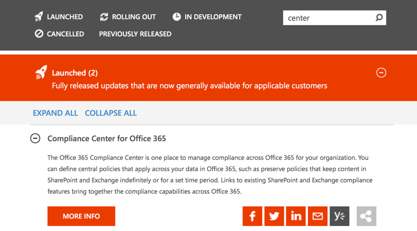 More controls for you to stay informed and manage change in Office 365 5