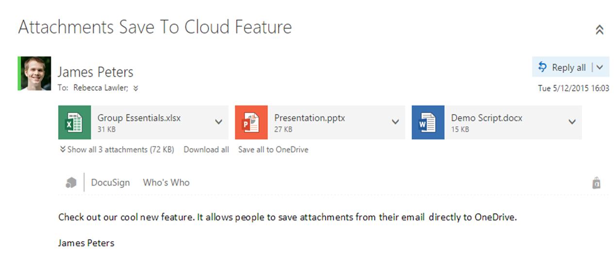 Outlook Web App OneDrive for Business just got better 1