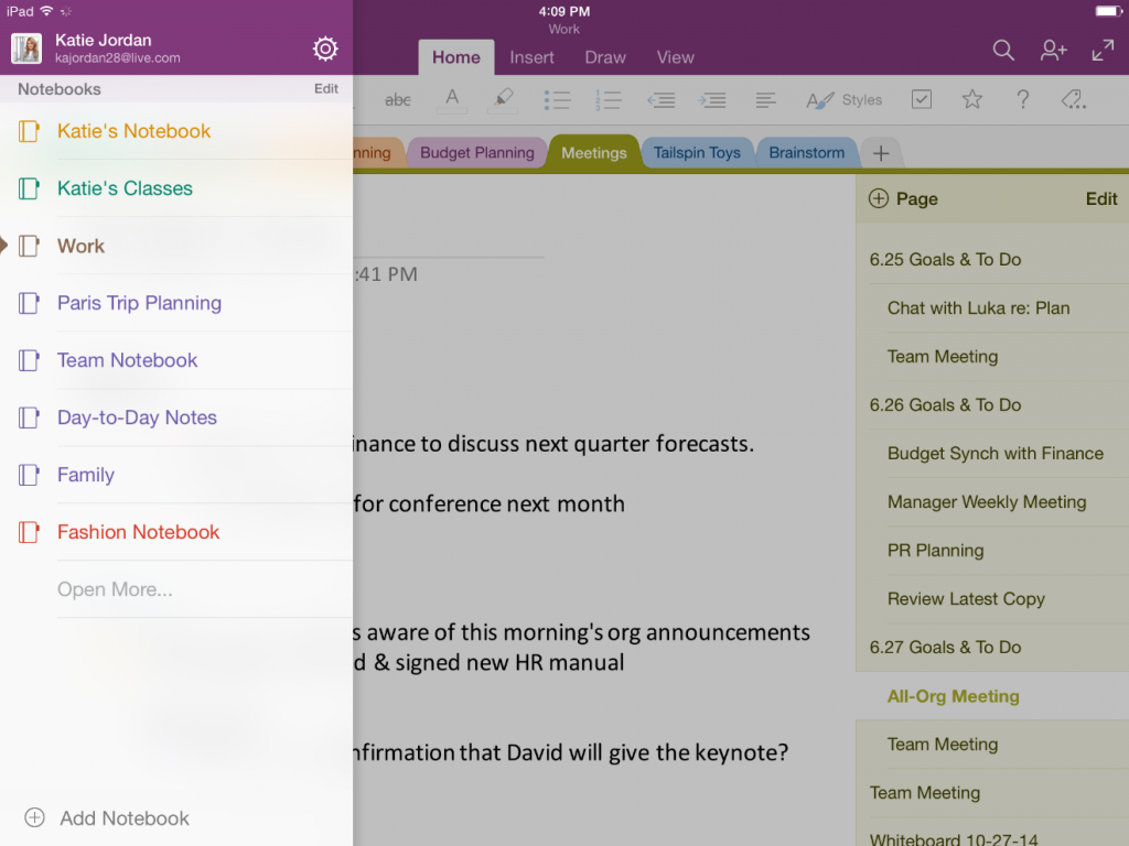 Search handwritten notes and Apple Watch support for OneNote 2