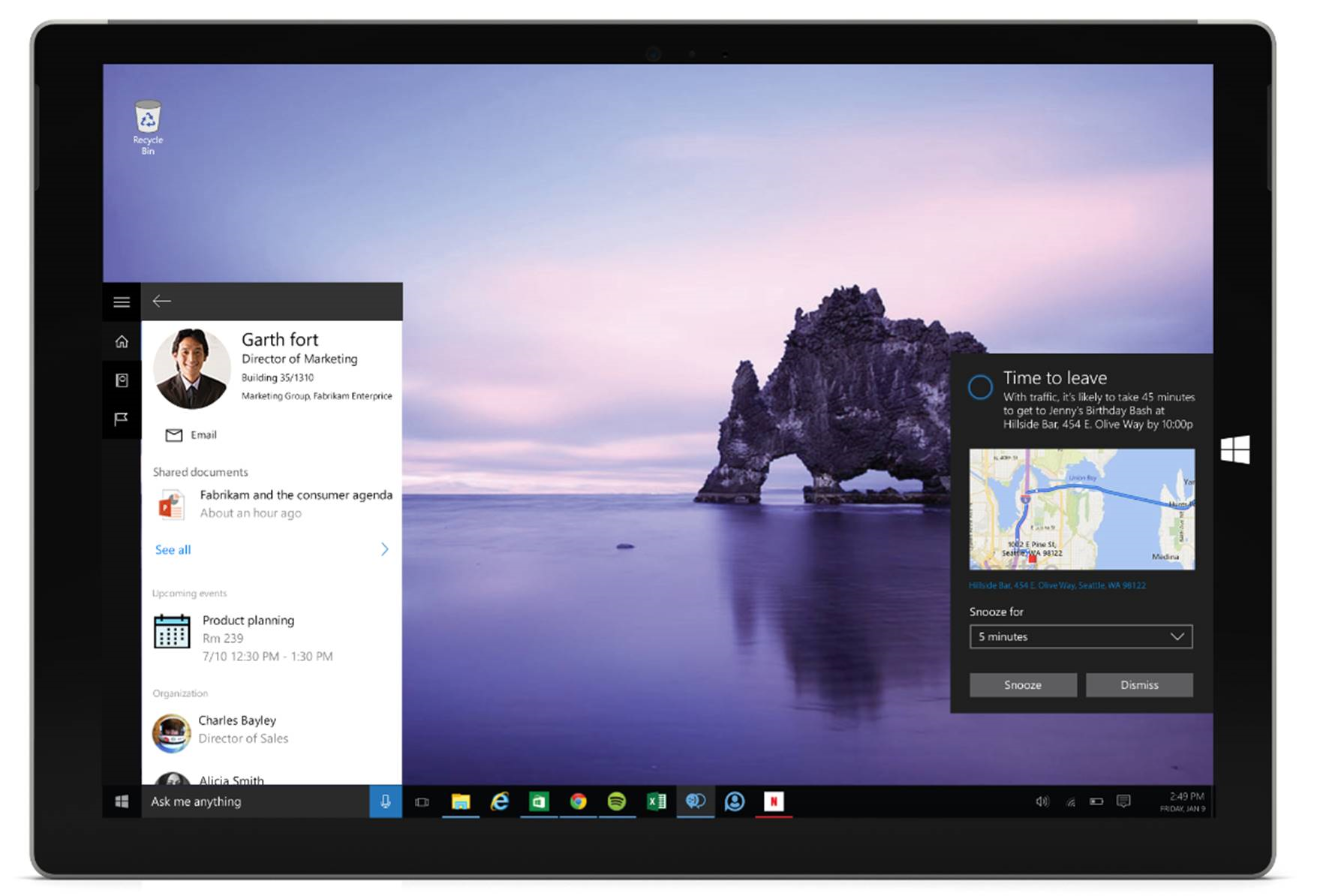 An early look at Cortana integration with Office 365 2