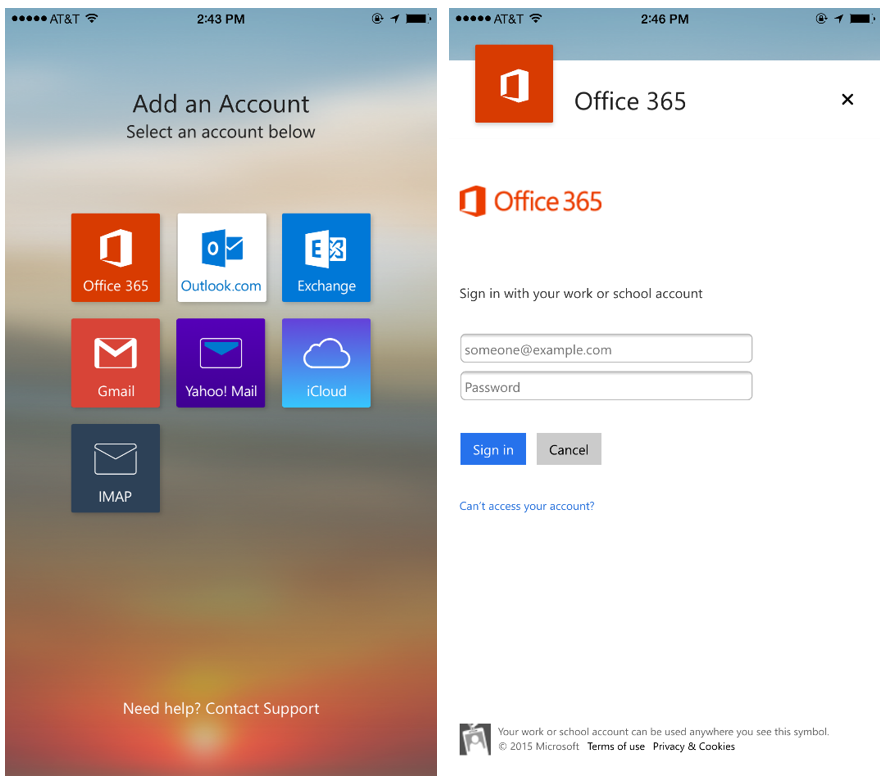 New access and security controls for Outlook for iOS and Android 1