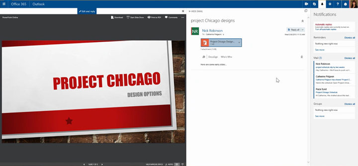 New user experiences in Office 365 on the web 1 1