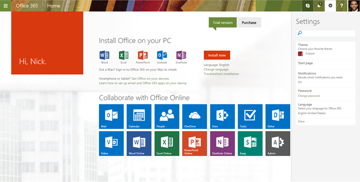 New user experiences in Office 365 on the web 4 1