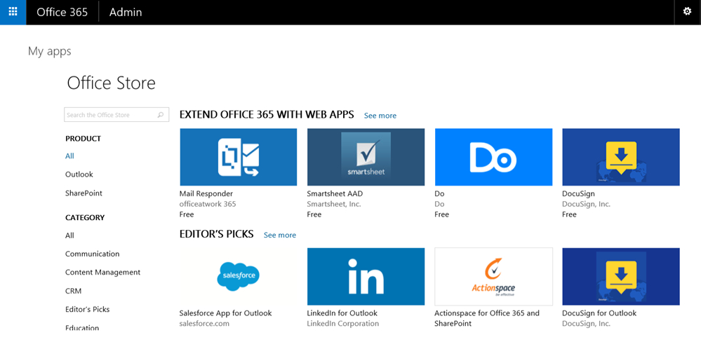 Office 365 users gain one-click access to third-party apps 2