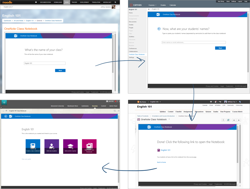 OneNote Class Notebook with LMS integration via LTI 1