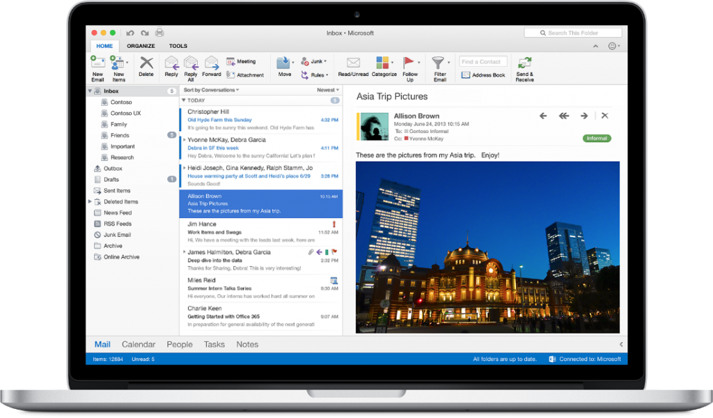Outlook for Mac.