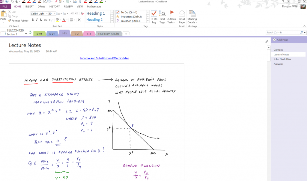 OneNote Class Notebooks and a Surface Pro 3 in higher education 1