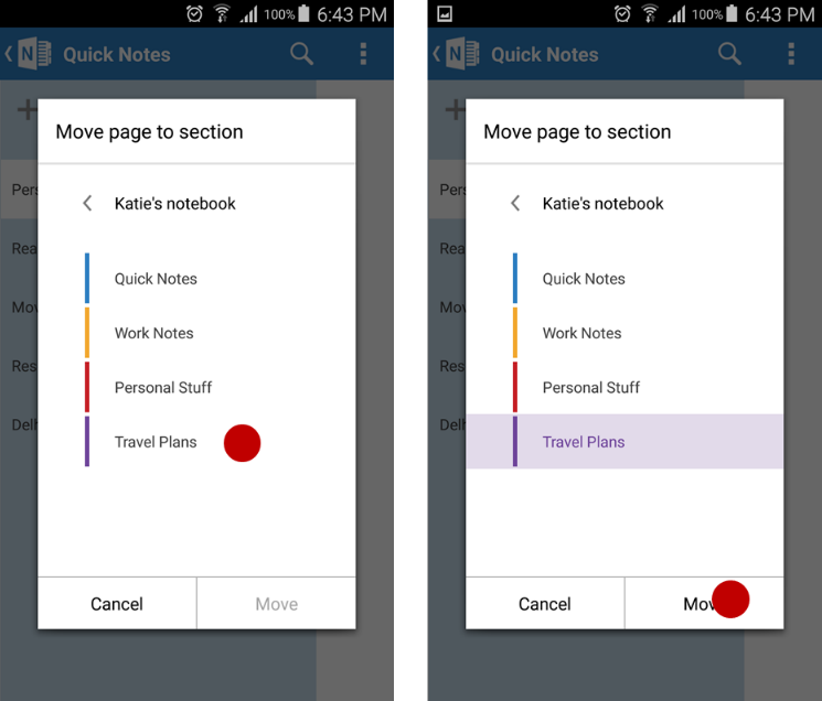 OneNote July mobile updates for iOS and Android 5